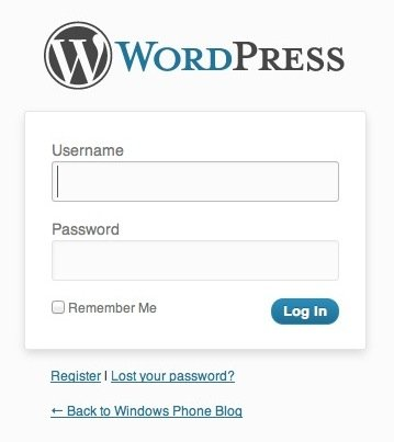logo dang nhap vao wordpress