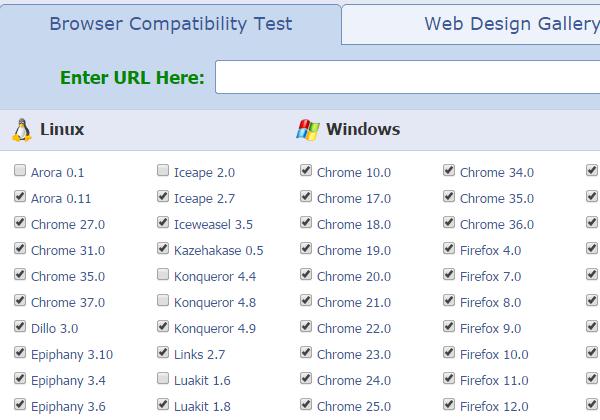 Công cụ kiểm tra website tương thích với trình duyệt
