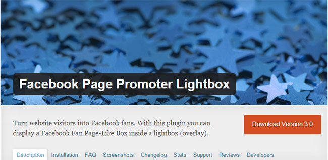 Facebook Page Promoter Lightbox