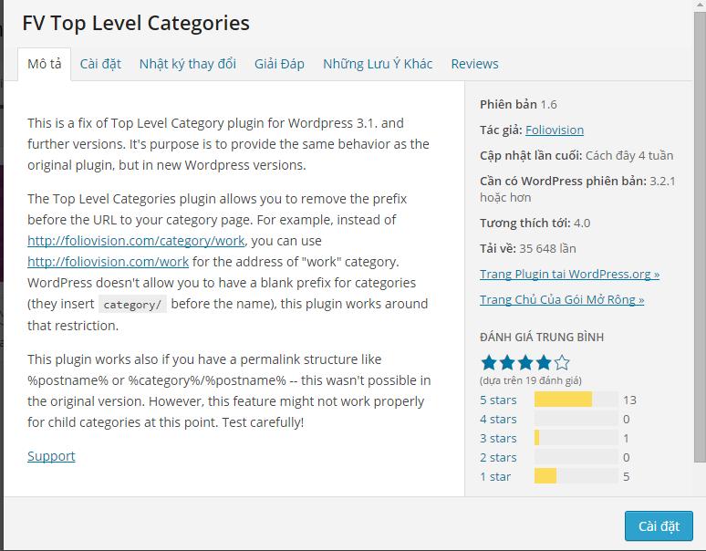 FV Top Level Categories