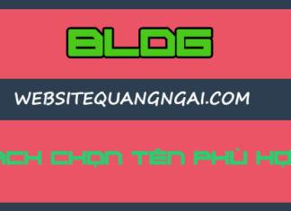 cach chon ten cho blog